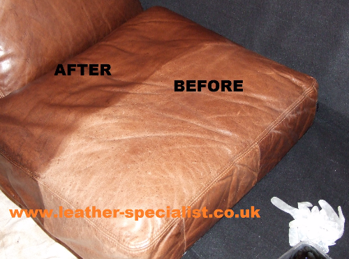 The difference clearly shown in this half done seat cushion