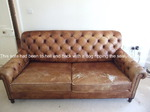 This chesterfield style sofa had got so bad that it had holes in the cushions and had faded