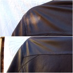 Leather surface damaged from over zealous DIY cleaning
