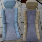 Customer requested change of leather colour on the seats, so we produced the colour requested and changed the coating