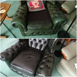 total refurb of leather chair