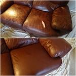 repair tear on leather sofa